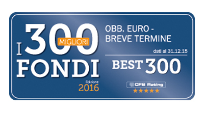 Premio Best Fund di CFS Rating 2016 - Obbligazionari Euro - Corporate
