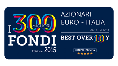 Premio Best Fund Over 10 Years di CFS Rating 2015